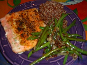 Salmon Dinner by Diane Eblin