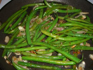 Shallot Green Beans by Diane Eblin