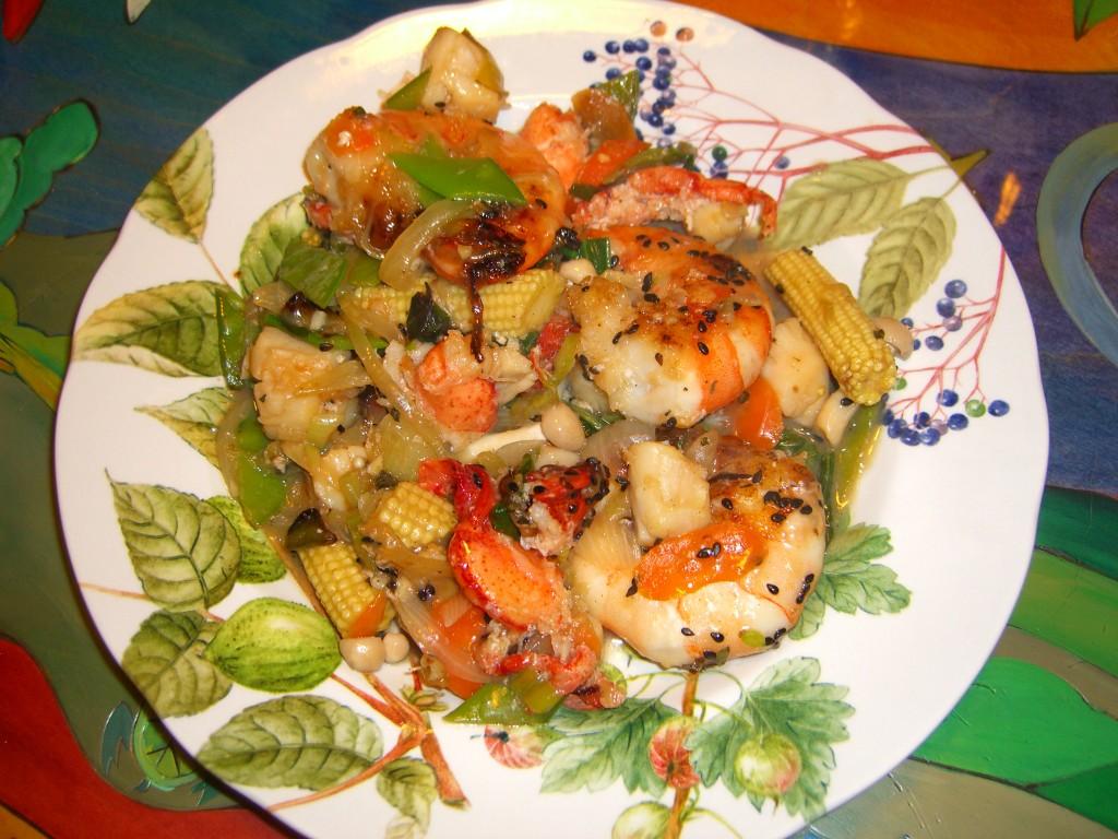 Seafood Stir-fry ©Diane Eblin