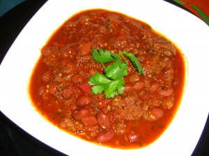 Buffalo & Beef Chili with Goat Eye Beans ©Diane Eblin