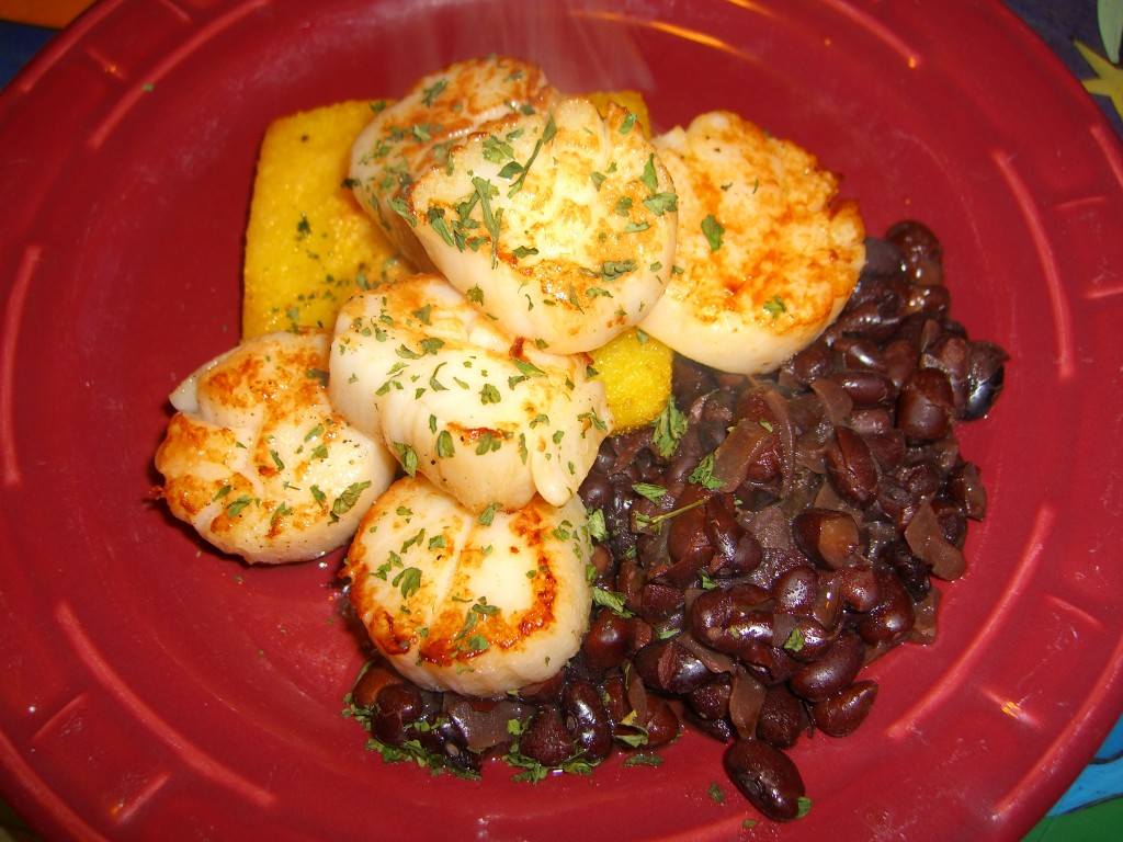Lemon Scallops & Black Beans ©Diane Eblin