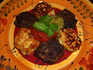 Mini Tomatillo Chicken Burgers ©Diane Eblin