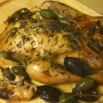 Roasted Chicken, Dates, Caperberries ©Diane Eblin