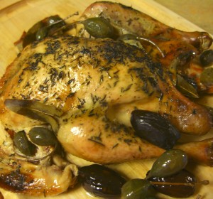 Roasted Chicken, Dates, Caperberries Diane Eblin