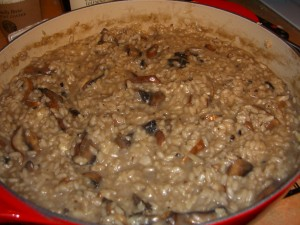 Mushroom Risotto by Diane Eblin