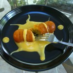Orange Twinkie & Mango Sauce