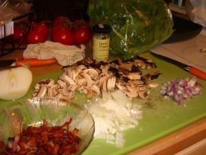 spinach-mushroom-prep