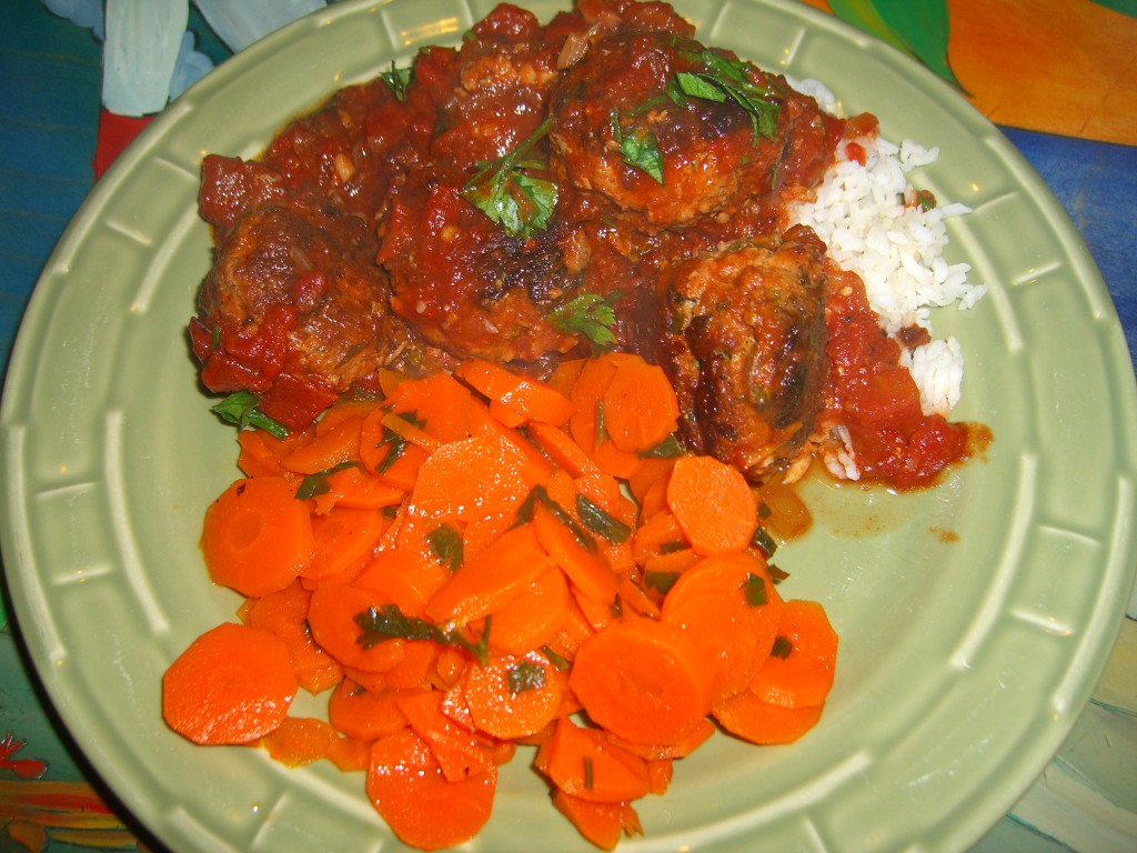 North African Meatballs with Glazed Carrots