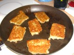scrapple in pan