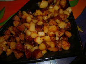 tapas potatoes and chorizo