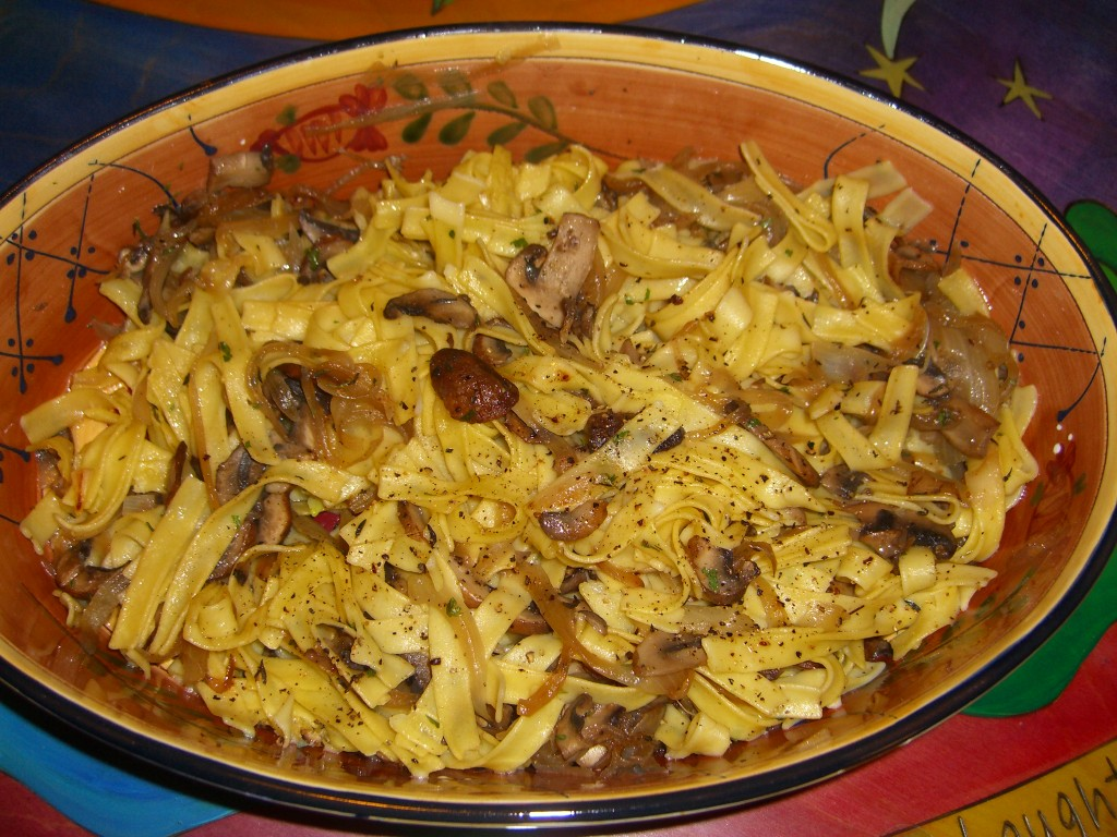 Noodles and Mushroom