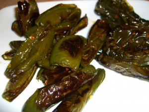 Roasted Jalapeno &amp; Pablano peppers