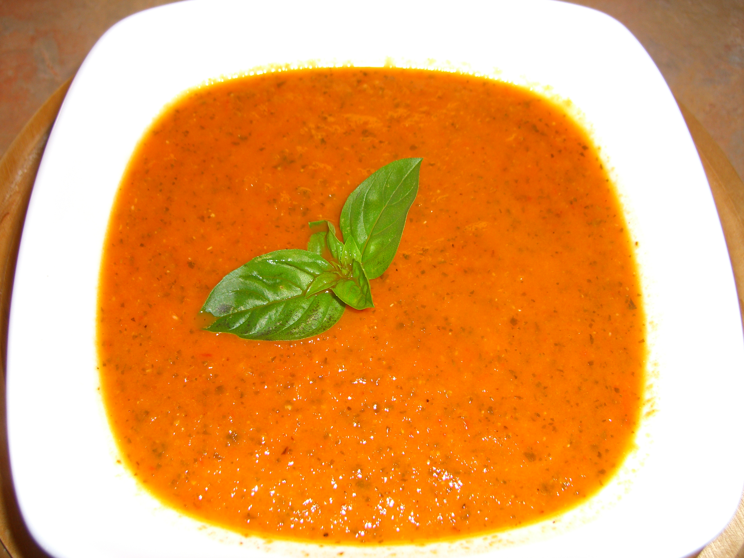 Roasted Tomato and Basil Soup Recipe |