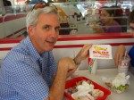 Scott enjoying In-n-Out Burgers & Fries