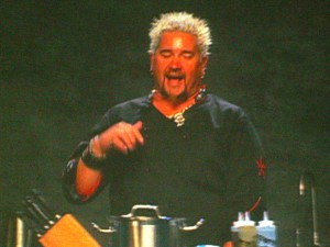 Guy Fieri talking