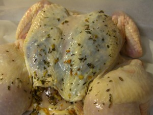 Roasted Spatchcock Chicken With Mushroom Stuffing Recipe