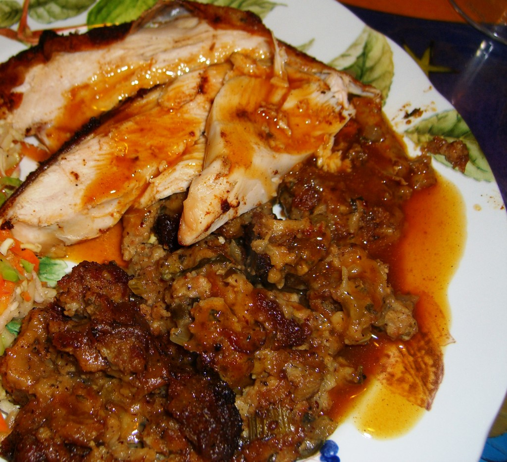 Stuffing &amp; Turkey with gravy