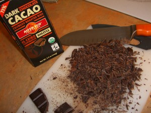 Chocolate Candy Bar Cut up
