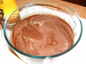 Chocolate Sorbet in bowl