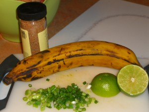 Jerk Seasoning, Plantain, lime, scallions