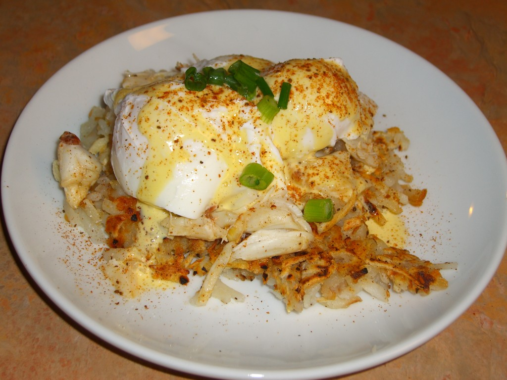 Old Bay Crab Hash Eggs Benedict Recipe