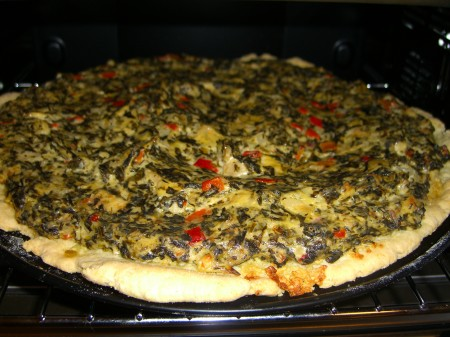 Spinach and Artichoke Dip Pizza Recipe 