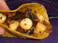 Scallop, Chorizo and Purple Sweet Potato Taco Recipe