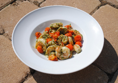 Pesto Shrimp and Tomato Recipe