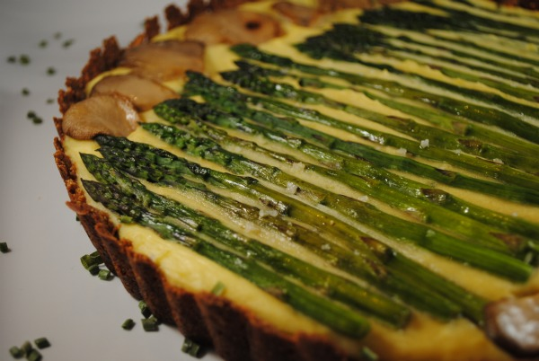 Asparagus, Potato and Oyster Mushroom Tart Recipe