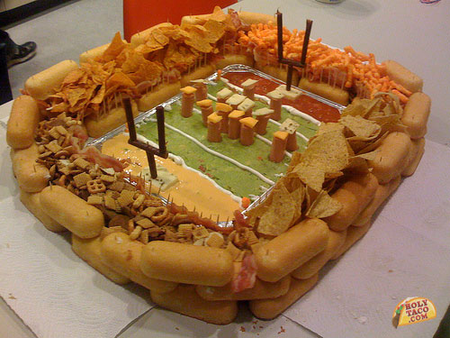 You may even be inspired to build your food into a football stadium.