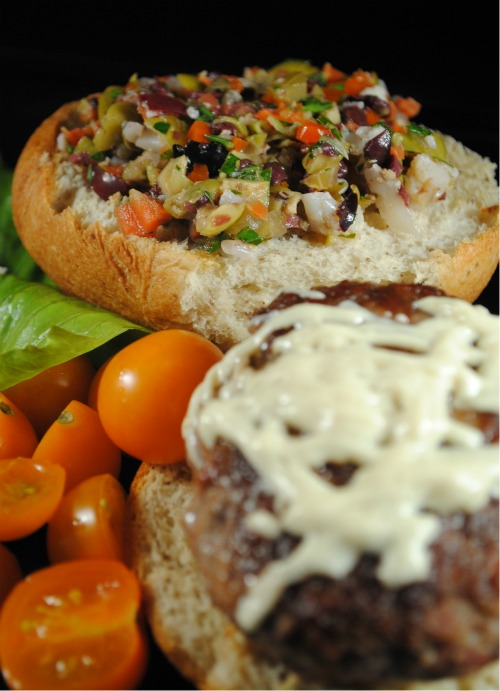 Muffaletta Burger Recipe With Lindsay Olives |