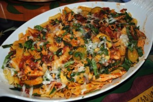 Whole Grain Penne Rigate Pasta With Chicken and Pancetta Tomato Sauce ...