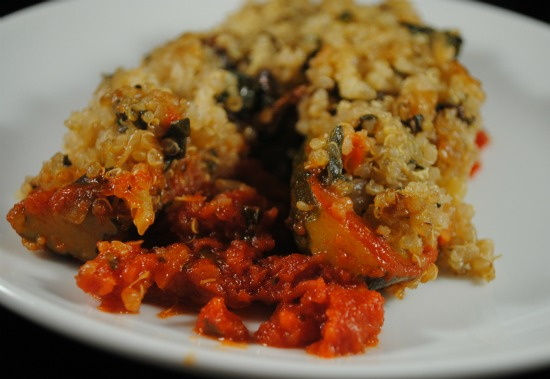Recipe for Quinoa and Vegetable Stuffed Zucchini