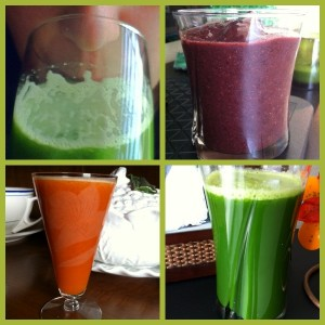 Juice and Smoothie Collage
