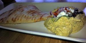 Hummus and gluten free pita