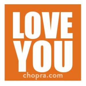 love you sticker Chopra Center